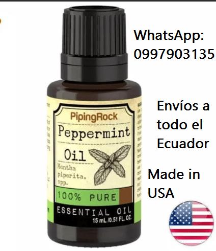Tratamiento para la calvicie con aceite puro de menta piperita Ecuador